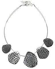 Hammered Style Necklace