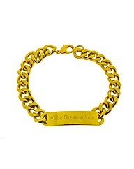 Gold Plated Greatest Son Bracelet