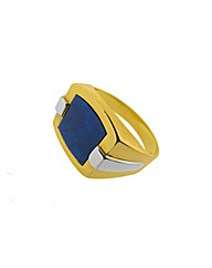 Gold Plated Silver Blue Lapis Ring