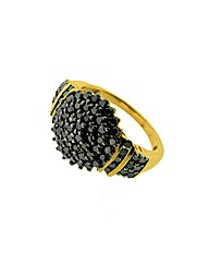 9ct Gold 1ct Black Diamond Ring