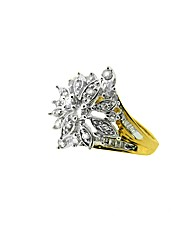 9ct Baguette Diamond Cluster Ring