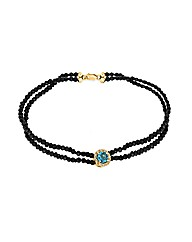 9ct Gold Diamond/Topaz spinel bracelet