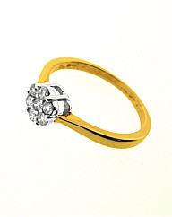9ct Gold 0.25ct Diamond Cluster Ring