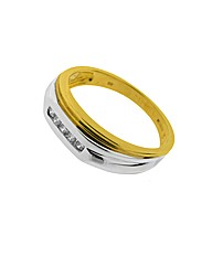 Gents 9ct Two Tone Diamond Ring