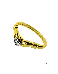 Gold Plated Claddagh Wishbone Ring