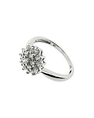 Silver and CZ Cluster Ring