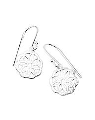 Sterling Silver Trivet Earrings
