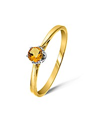 9ct Gold 0.2Ct Citrine Ring