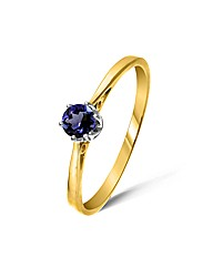9ct Yellow Gold 0.25 Carat Iolite Ring