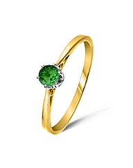 9ct Yellow Gold 0.3 Carat Tsavorite Ring