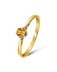 Yellow Gold 0.25 Carat Spessartite Ring