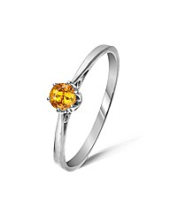 9ct White Gold 0.25Ct Spessartite Ring