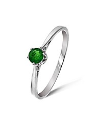 9ct White Gold Chrome Diopside Ring