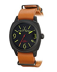 Toywatch Icon With Brown Leather Strap