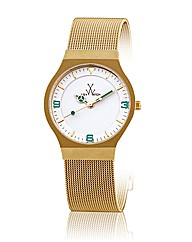 ToyWatch Small Mesh Matt Gold Coloured