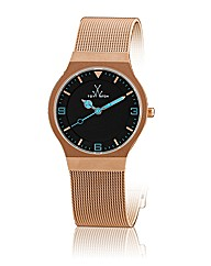 Toywatch Small Mesh Matt Pink Gold Steel