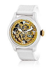 ToyWatch Skeleton in White