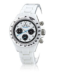 Toywatch Ceramic Chronograph White
