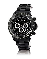 Oversized Chronograph Watch in black