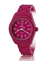 ToyWatch Velvety Watch in Shocking Pink
