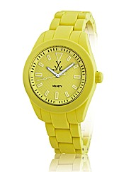 ToyWatch Velvety Watch in Yellow