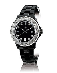 ToyWatch black With Swarovski elements