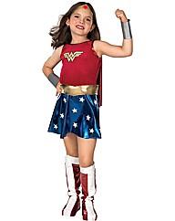 Girls Deluxe Wonderwoman Costume