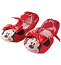 Girls Red Minnie Mouse Slippers