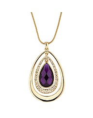 Mood Crystal Teardrop Pendant