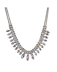 Mood Crystal Navette Necklace