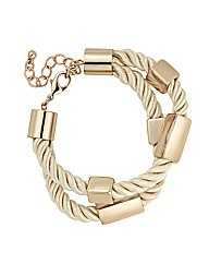 Mood Metal Tube Cord Bracelet