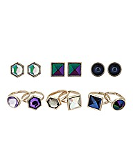 Mood Crystal Earring and Ring Pack
