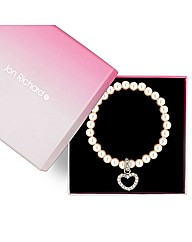 Jon Richard Pearl Heart Bracelet