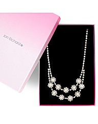 Jon Richard Pearl Flower Necklace