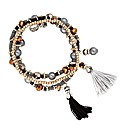 Mood Mixed Bead Tassel Bracelet Pack