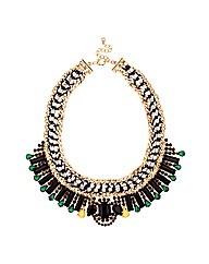 Mood Statement Jewel Collar Necklace