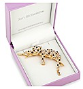 Jon richard Crystal Leopard Brooch