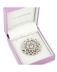 Jon Richard Crystal Starburst Brooch
