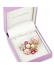 Jon Richard Flower Cluster Brooch