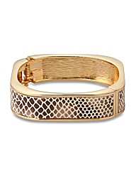 Mood Snake Print Square Hinge Bangle