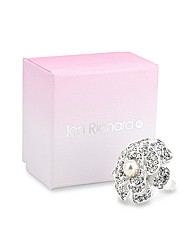 Jon Richard Crystal Pearl Flower Ring