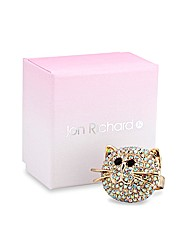 Jon Richard Crystal Cat Ring