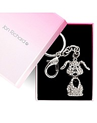 Jon Richard Crystal Dog Keyring