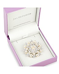 Jon Richard Crystal Pearl Brooch