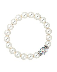 Mood Pave Crystal Pearl Stretch Bracelet