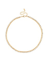 Mood Diamante Crystal Chain Necklace