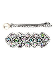 Mood Crystal Hair Barrette Pack