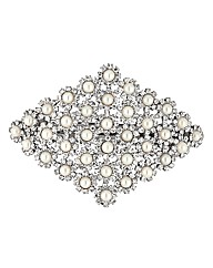 Mood Pearl Crystal Hair Barrette
