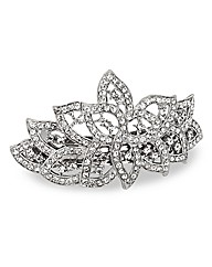 Mood Crystal Leaf Hair Barrette