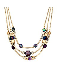 Mood Tube Bead Multirow Necklace
